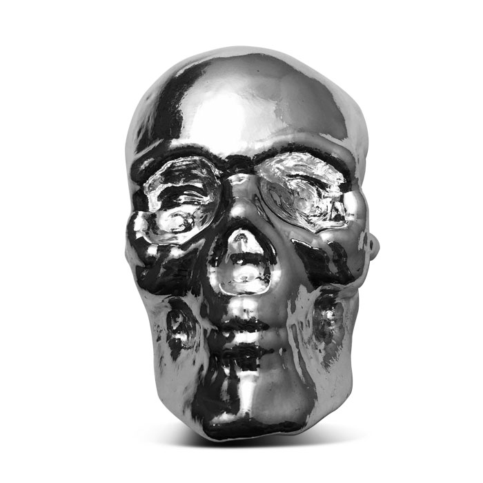 Yeager Poured Silver 1 kilo Skull | YPS
