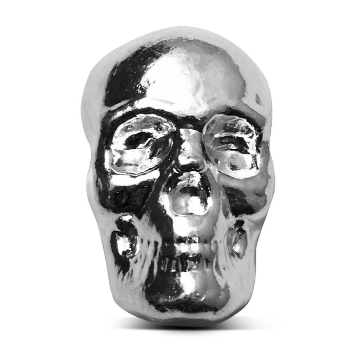 Yeager 1 oz Poured Silver Skull