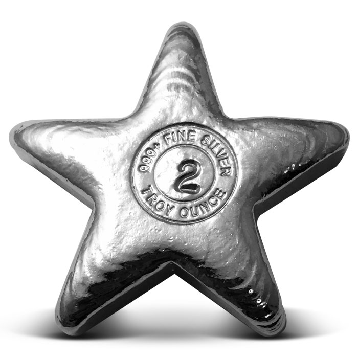 Yeager 2 oz Poured Silver Star