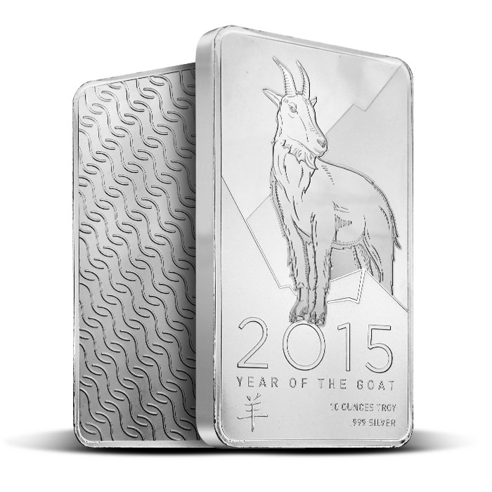 2015 Provident Metals Year of the Goat | 10 oz Silver Bar