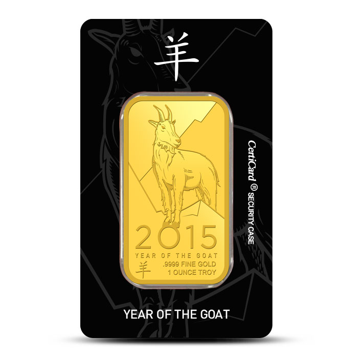 2015 OPM 1 oz Gold Year of the Goat Bar