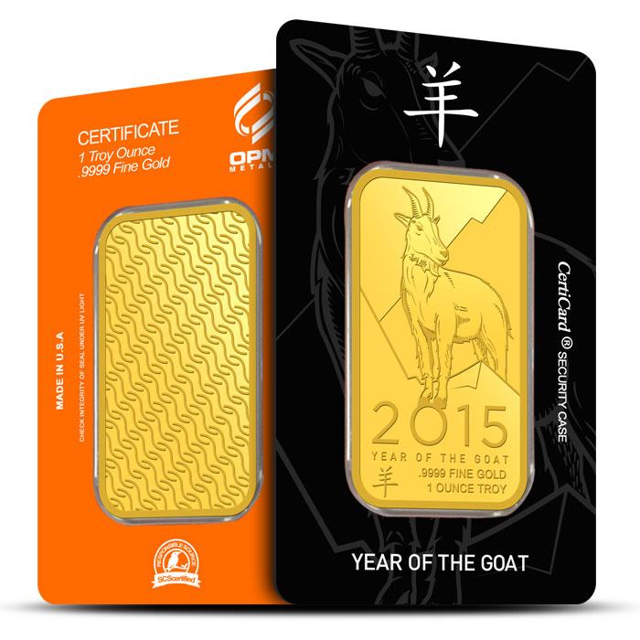 2015 OPM 1 oz Gold YOG Bar