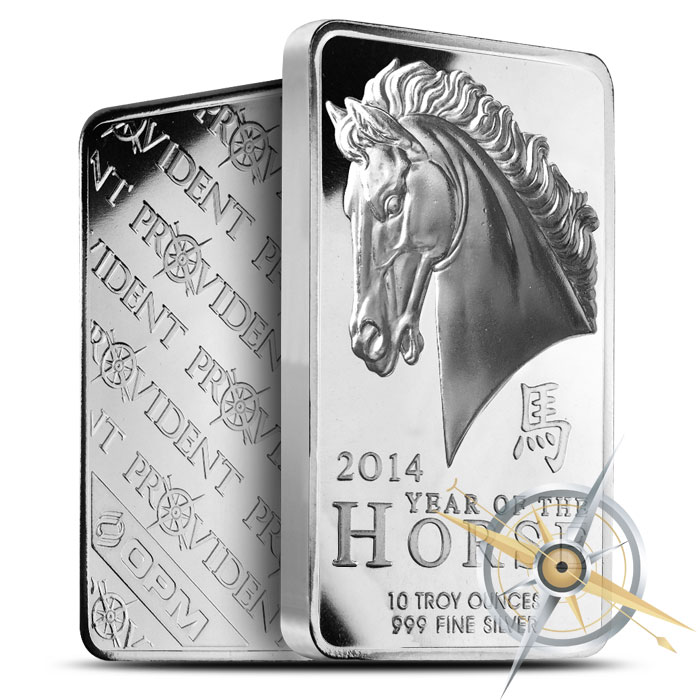 2014 Year of the Horse 10 oz SIlver Bars