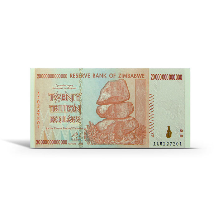 Zimbabwe 20 Trillion Dollar Uncirculated Note