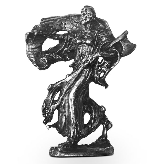 Silver Walker Statue