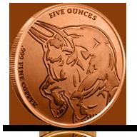 5 oz Copper Rounds