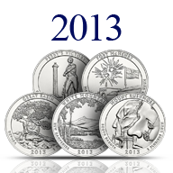 2013 America the Beautiful Silver Coins