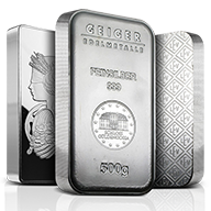500 gram Silver Bars
