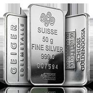 50 gram Silver Bars